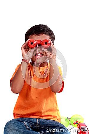 Kid with Binoculors