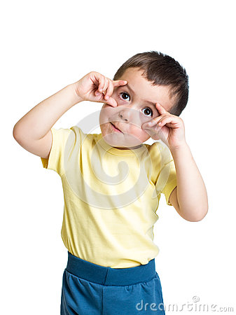 Free Kid Boy Making Funny Faces Royalty Free Stock Image - 41019146