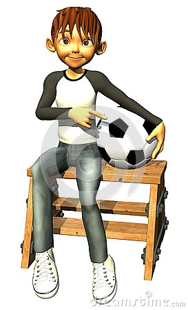 Kid boy teen human is also a footballer