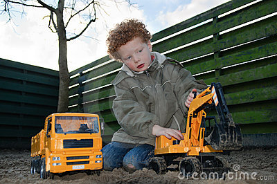 Kid with building toys