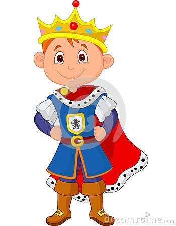 Free Kid Cartoon With King Costume Royalty Free Stock Images - 33242399