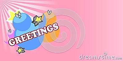 Kid childish greetings card