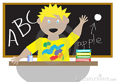 Kid in a classroom