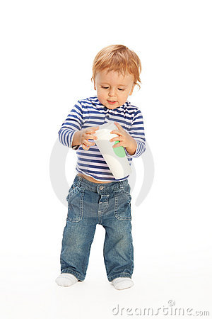 Kid with coffee mug