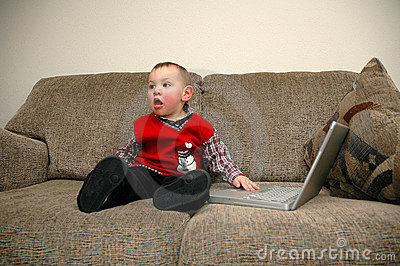 Kid and computer