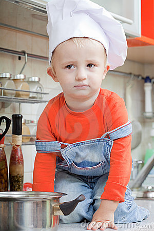 kid in a cook cap