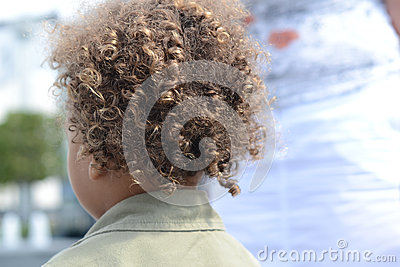 Kid curly hair back 2