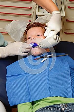 Kid at dentist