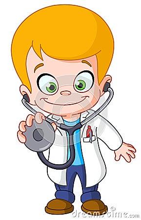 Free Kid Doctor Royalty Free Stock Image - 24823766