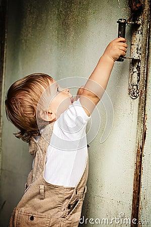 Kid and door