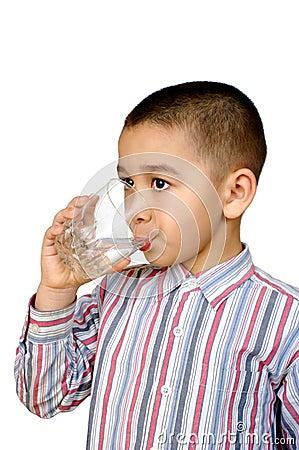 Free Kid Drinking Water Royalty Free Stock Image - 13383826