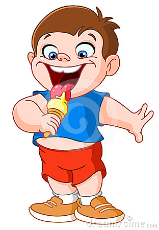 Kid eating icecream