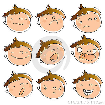 Free Kid Expressions Royalty Free Stock Photos - 9744768