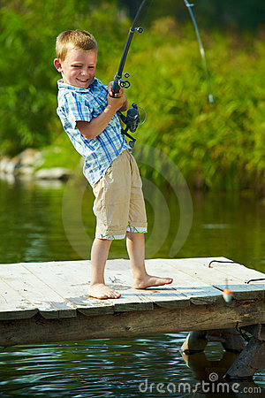 Free Kid Fishing Stock Images - 15738144