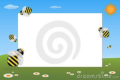 Kid frame - bees