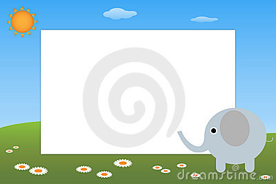 Kid frame - elephant