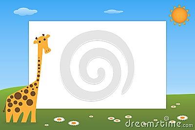 Kid frame - giraffe
