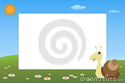 Kid frame - snail