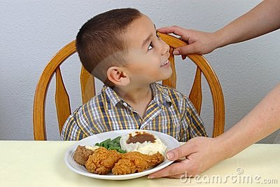 Kid and Fried Chicken