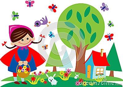 Kid in garden