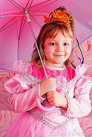 Free Kid Girl Party. Stock Images - 8992264