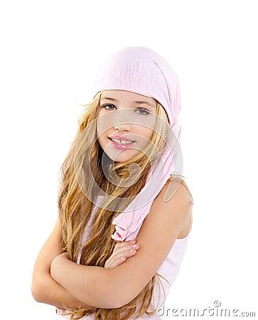 Kid girl with pirate handkerchief