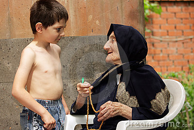 Kid and granny