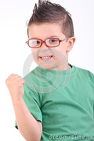 Kid happy for winning
