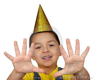 Kid holding up ten fingers