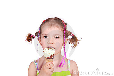 Kid with ice cream