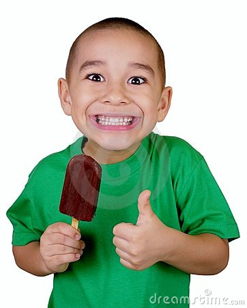 Kid with ice cream bar