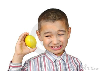 Kid with lemon