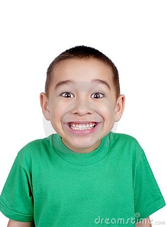 Kid making a funny face