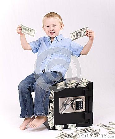 Kid with money