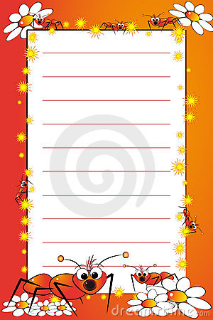 Kid Notebook With Blank Lined Page Royalty Free Stock Image