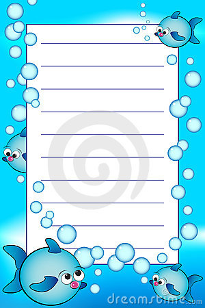 Kid Notebook With Blank Lined Page Stock Photography - Image: 9642512