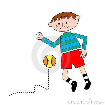 Kid palying with ball
