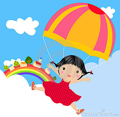 Kid with parachute