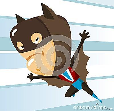 Kid play Bat man