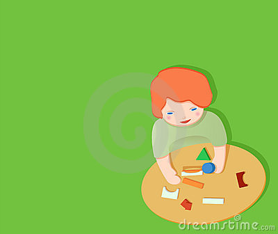 Kid playing with toy