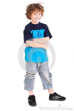 Kid posing with arms crossed
