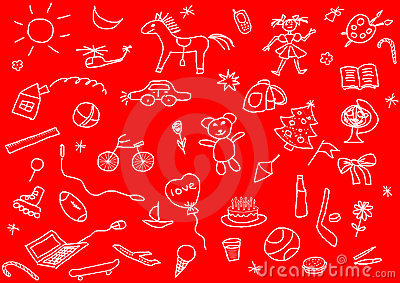 Kid s drawings set