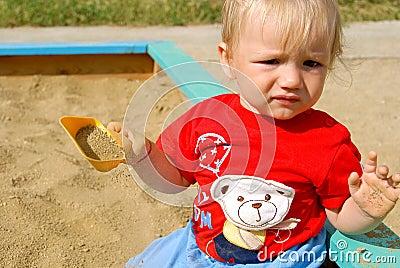 The kid in a sandbox