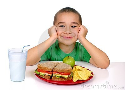Kid with sandwich