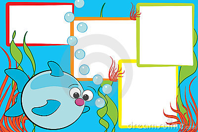 Kid scrapbook - Fish and air bubbles