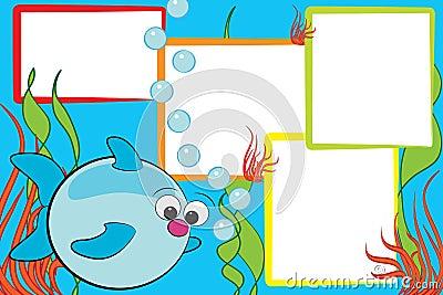 Kid scrapbook - Fish and air bubbles