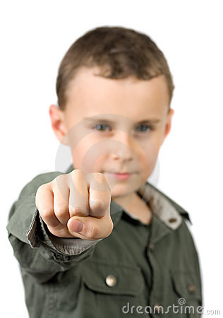 Kid showing his fist