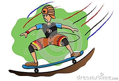Kid on skateboard