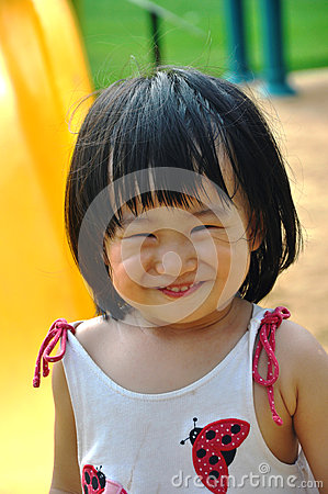 Kid with smile face look like cat