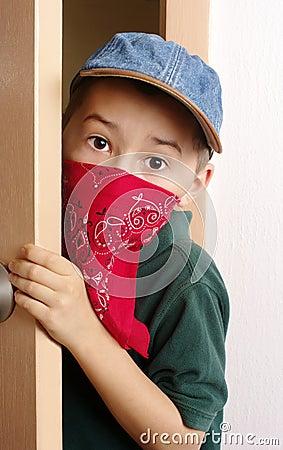 Kid sneaking